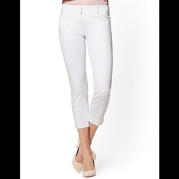 The Limited Pants - THE LIMITED White Cropped Skinny Trousers